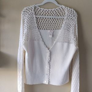 Pretty crocheted sweater